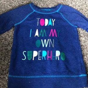 Toddler superhero sweatshirt